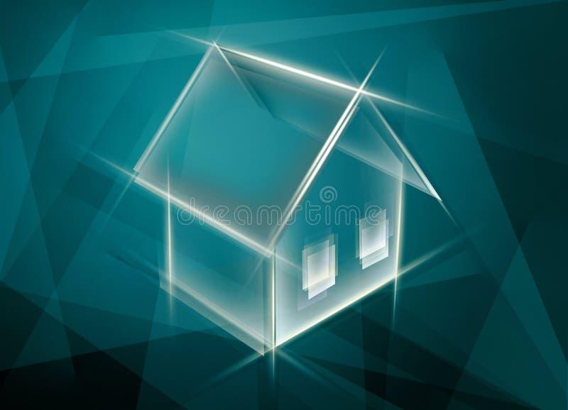 Abstracte huisachtergrond royalty-vrije illustratie