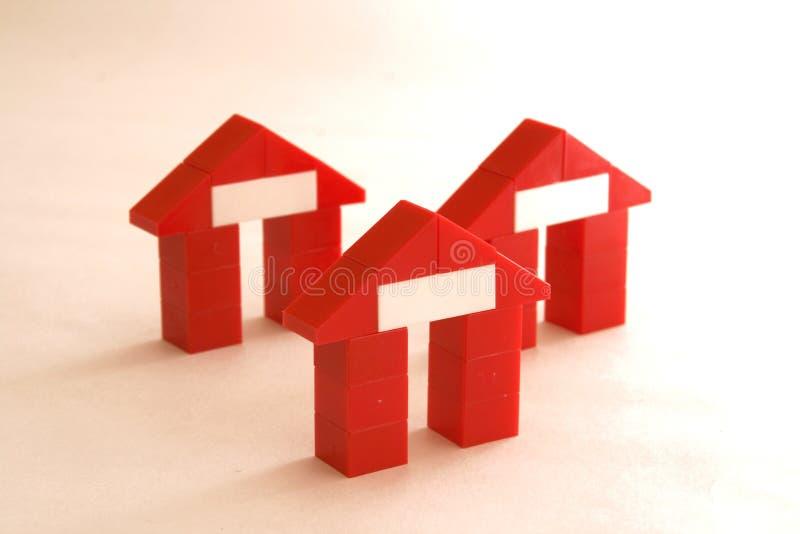 Abstracte huizen stock afbeelding