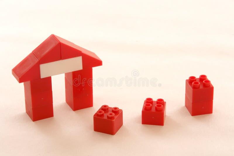 Abstracte huizen royalty-vrije stock afbeeldingen