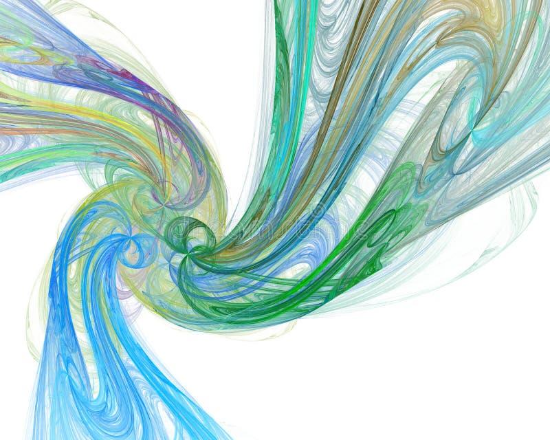 Abstracte illustratie als achtergrond van fractal multicolored golven royalty-vrije illustratie