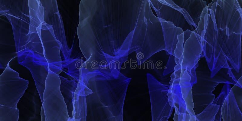 Abstracte illustratie blauwe rook voor achtergrond royalty-vrije stock foto's