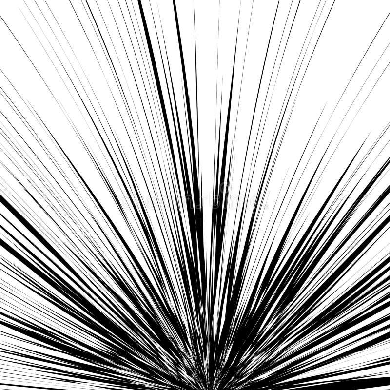 Abstracte illustratie met radiaal, uitstralend willekeurige lijnen Irreg vector illustratie