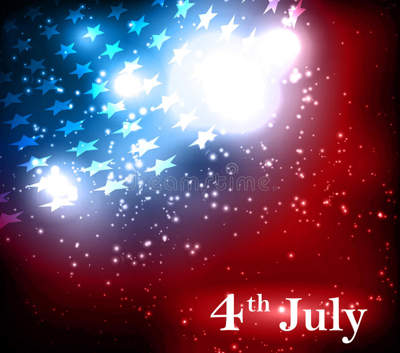 Abstracte illustratie van Amerikaanse vlag royalty-vrije illustratie