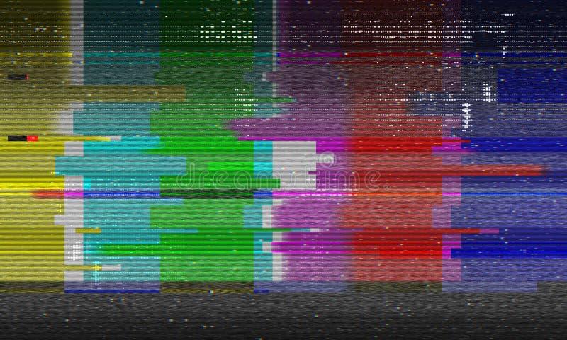 Abstracte illustratie van de vervormde TV-bars van de testkleur vector illustratie