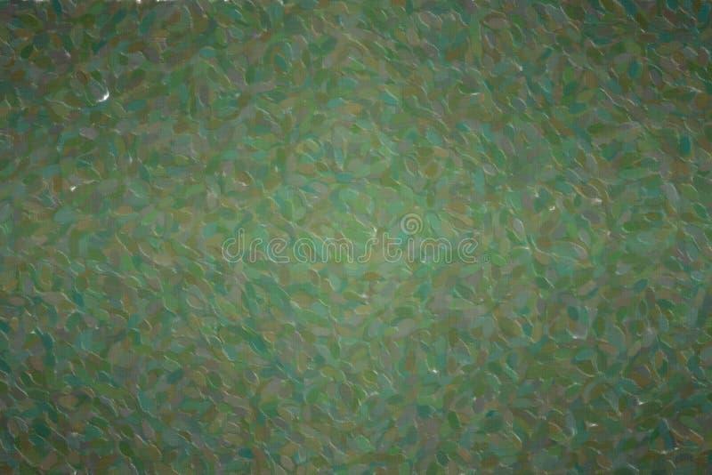 Abstracte illustratie van Donkere geproduceerde het pointillismeachtergrond van Wildernis Groene Lange punten, digitaal vector illustratie