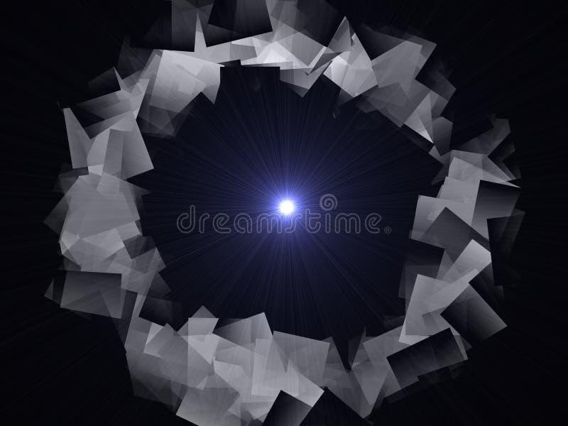 Abstracte illustratie van een cirkel van grijs met metaalglans stock illustratie