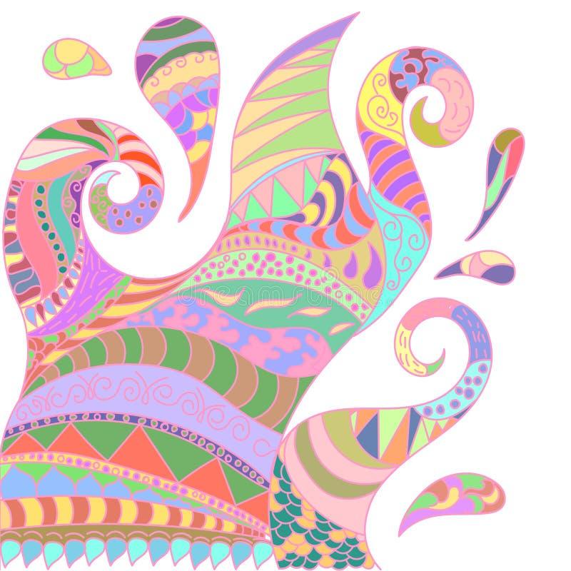 Abstracte illustratie van mandala kleurrijke fictief stock illustratie