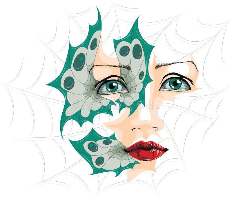 Abstracte illustratie van ogen stock illustratie