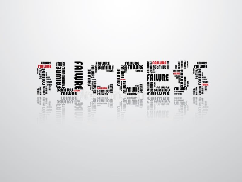 Abstracte illustratie van succes en mislukking vector illustratie