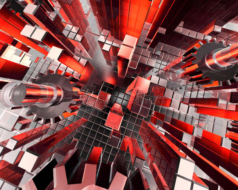 Abstracte industriële achtergrond vector illustratie