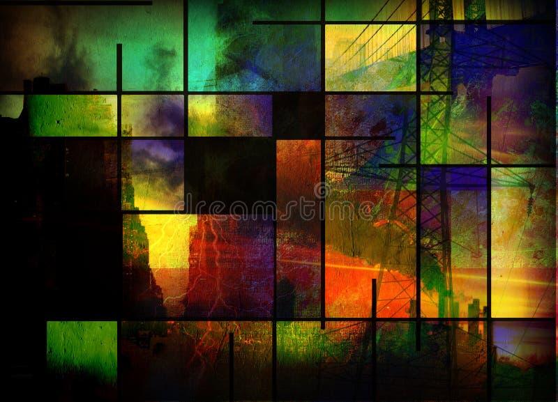 Abstracte Industrie - stad royalty-vrije illustratie