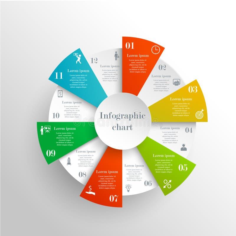 Abstracte infographic cirkel vector illustratie