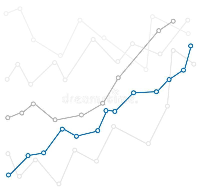Abstracte infographic grafiek op witte achtergrond Grafiek omhoog stock illustratie