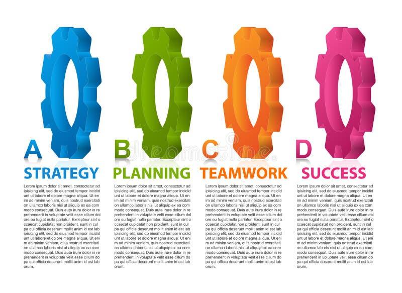 Abstracte infographic technologie Het element van het ontwerp Infographics voor bedrijfspresentaties of informatiebanner royalty-vrije illustratie