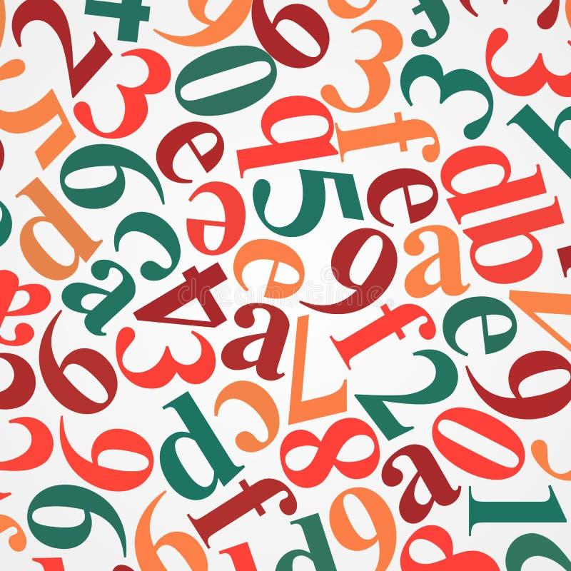 Abstracte Informatieachtergrond: veelkleurige Hexadecimale Codeð ¾ n Witte, vectorillustratie royalty-vrije illustratie