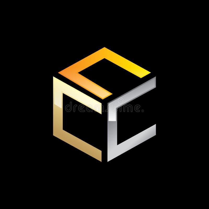 Abstracte Initialen Logo Template royalty-vrije stock fotografie