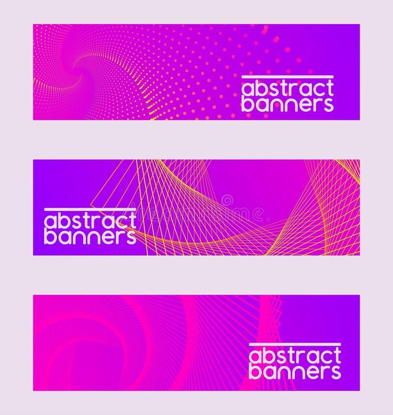 Abstracte inzamelingsreeks banners, brochures vectorillustratie Minimalisticontwerp, creatief modern concept, royalty-vrije illustratie