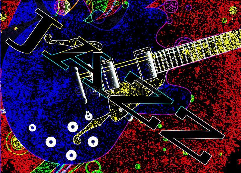 Abstracte Jazz Venue Poster vector illustratie