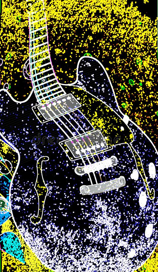 Abstracte Jazz Venue Poster royalty-vrije illustratie