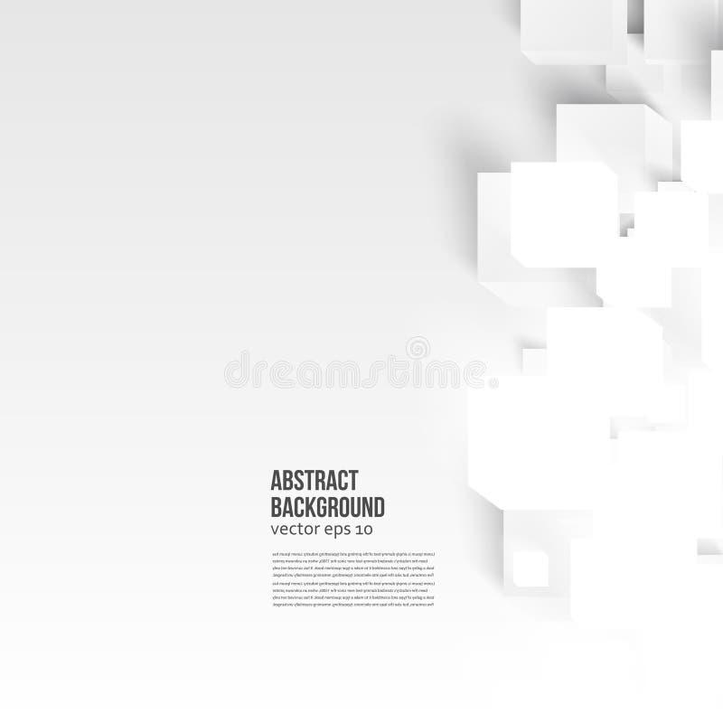 Abstracte kaart en schaduw als achtergrond Abstract achtergrondkaartblauw royalty-vrije illustratie