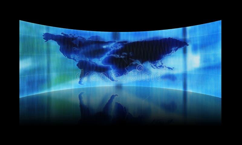 Abstracte kaart van de wereld vector illustratie