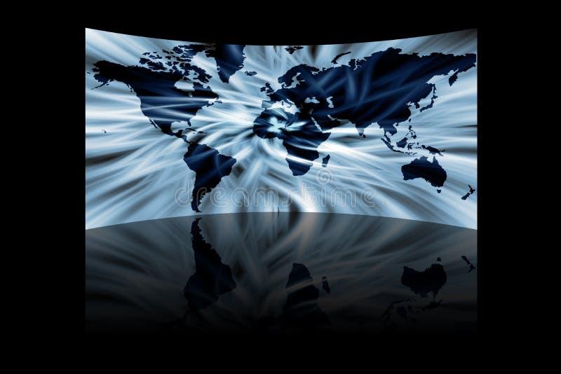 Abstracte kaart van de wereld stock illustratie