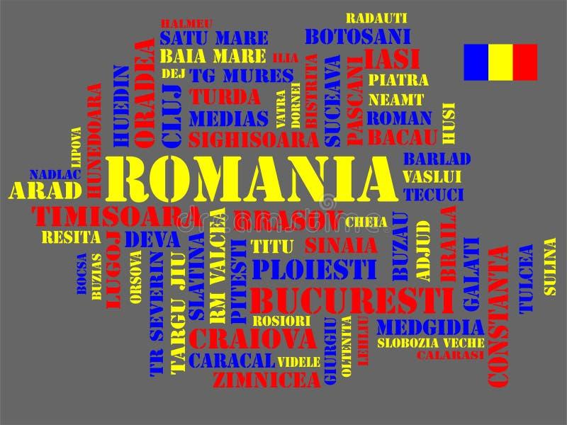 Abstracte kaart van Roemenië stock illustratie