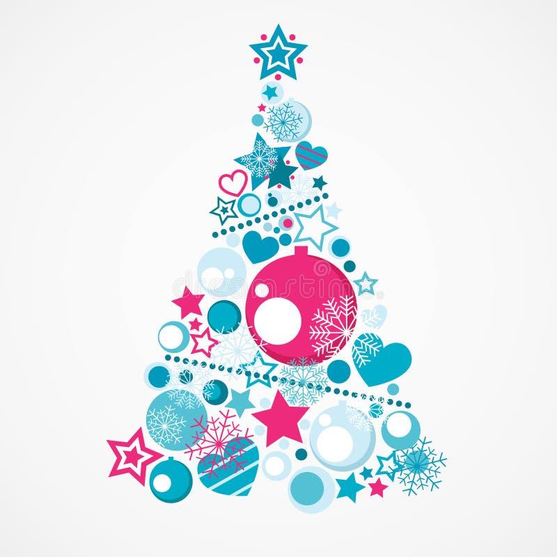 Abstracte Kerstboom stock illustratie