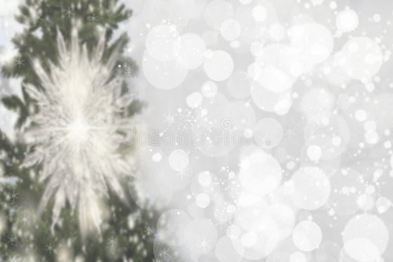 Abstracte Kerstboom bokeh achtergrond Samenvatting vage festi royalty-vrije stock fotografie