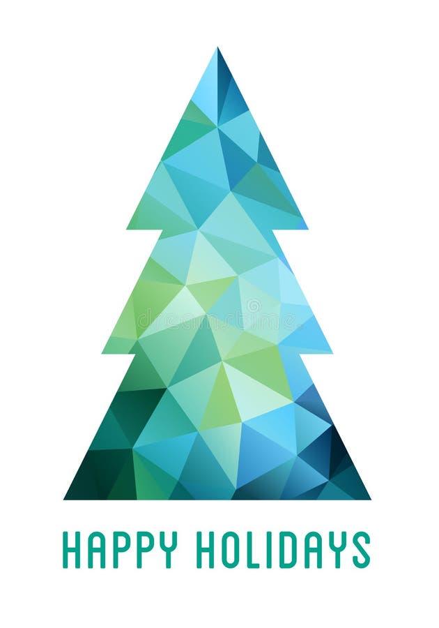 Abstracte Kerstboom, vector royalty-vrije illustratie