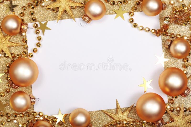 Abstracte Kerstmis gouden achtergrond royalty-vrije stock foto's