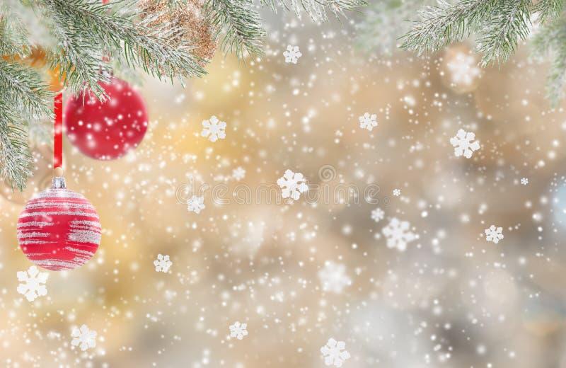 Abstracte Kerstmisachtergrond royalty-vrije illustratie