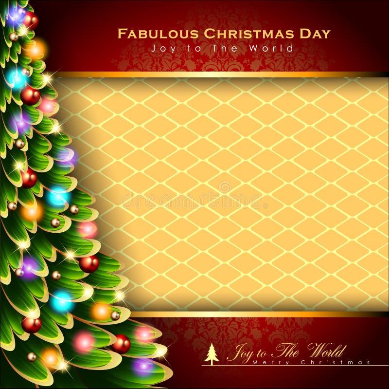 Abstracte Kerstmisachtergrond Kerstboomconcept Vector en Illustratie, EPS 10 stock illustratie