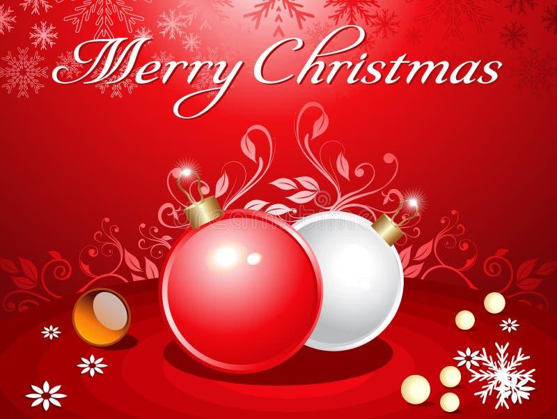Abstracte Kerstmisachtergrond met ballen vector illustratie