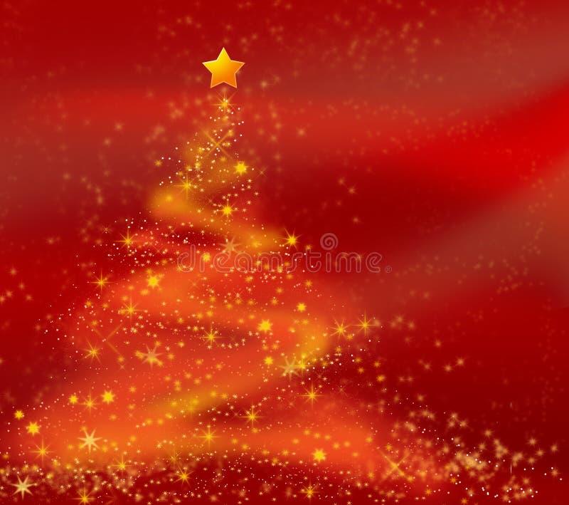 Abstracte Kerstmisboom stock illustratie