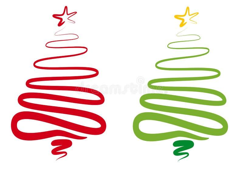 Abstracte Kerstmisboom, Royalty-vrije Stock Foto