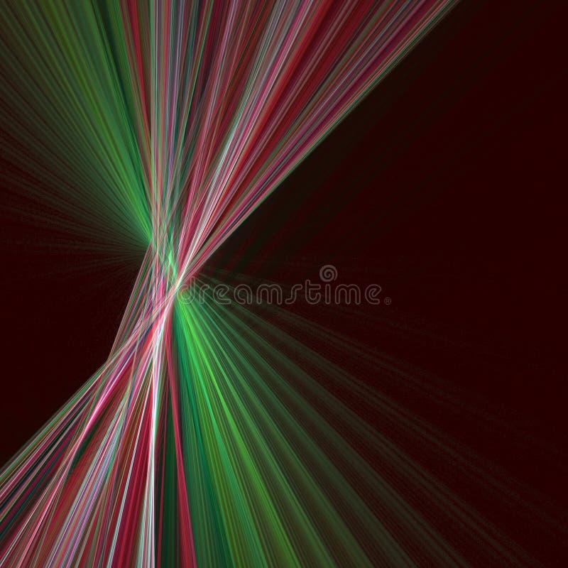 Abstracte Kerstmisgrens stock illustratie