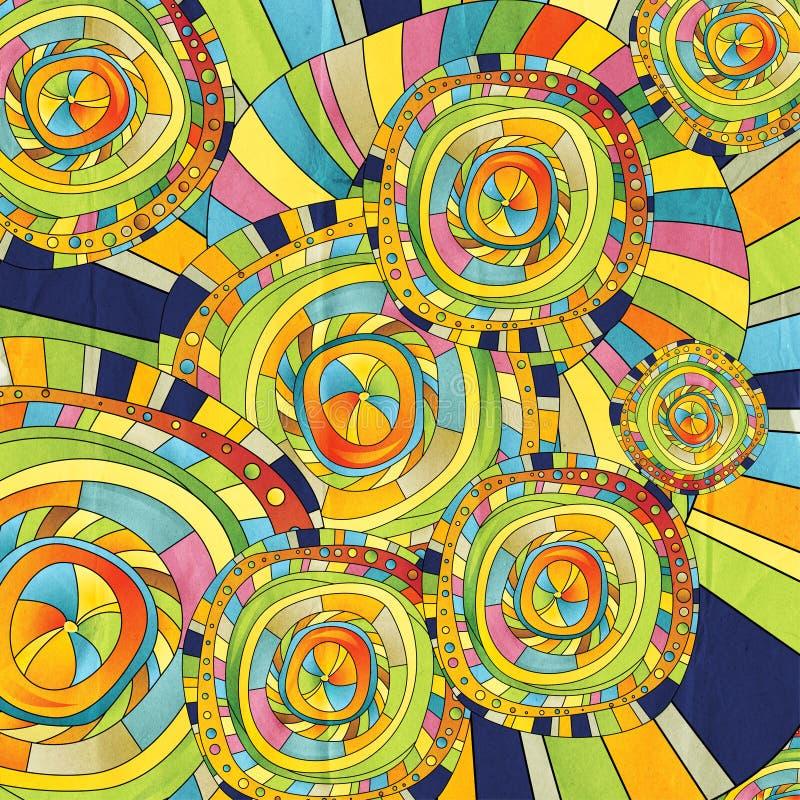 Abstracte kleur als achtergrond van de cirkels royalty-vrije illustratie