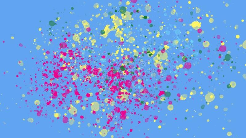 Abstracte kleur backgroud met plonsen en textuur stock illustratie
