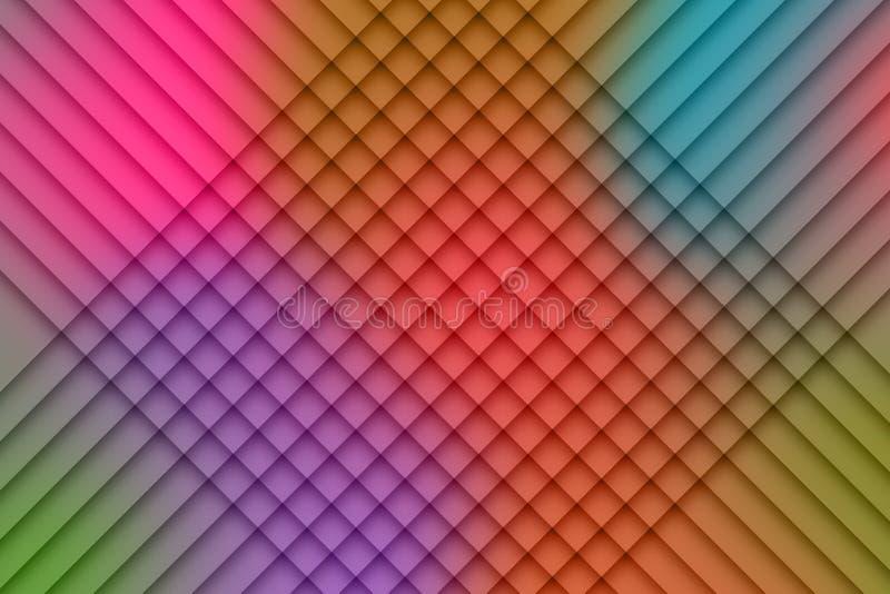 Abstracte kleur gecontroleerde achtergrond vector illustratie