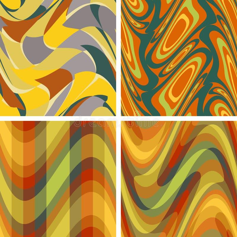 Abstracte kleuren naadloze patronen vector illustratie