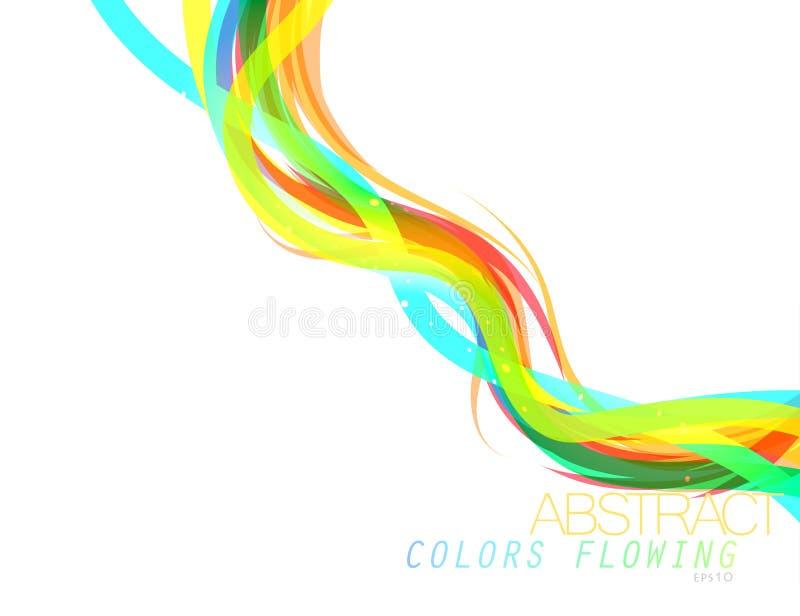 Abstracte kleuren stromende vector royalty-vrije illustratie