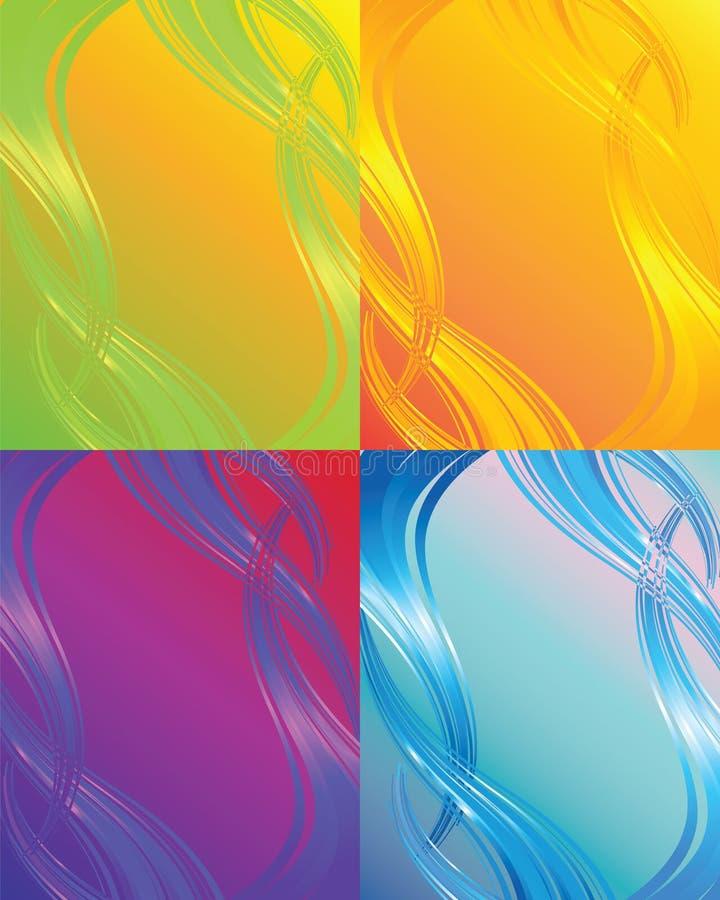 Abstracte kleurenachtergrond stock illustratie