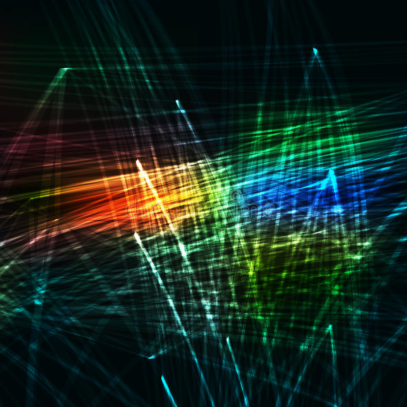 Abstracte kleurenachtergrond royalty-vrije illustratie