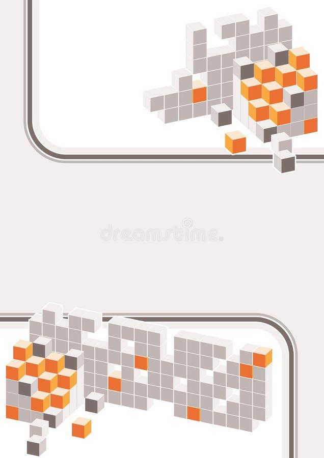 Abstracte kleurenblokken met strepen royalty-vrije illustratie