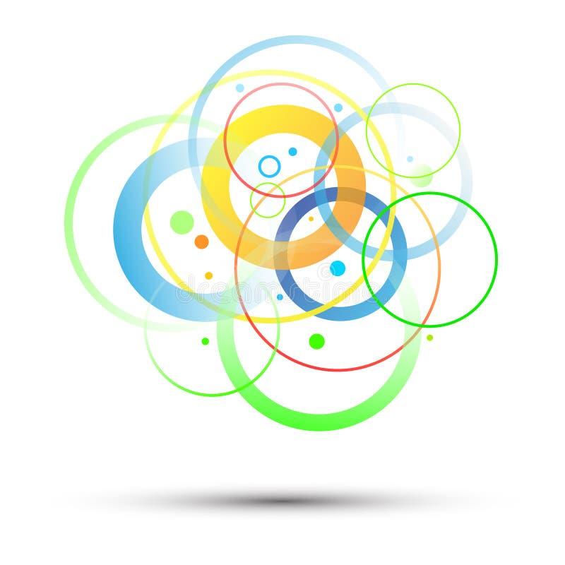 Abstracte kleurencirkels op witte achtergrond royalty-vrije stock afbeeldingen