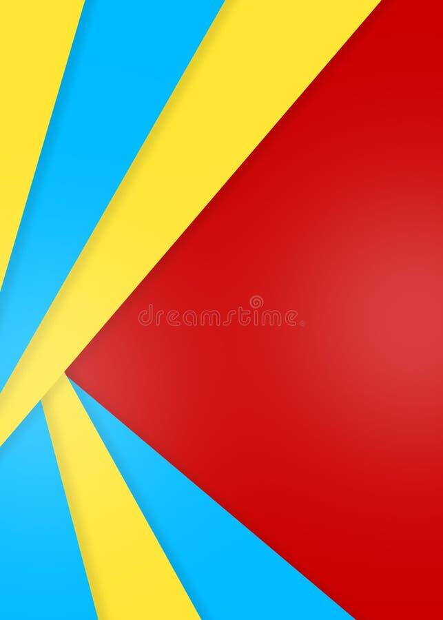 Abstracte Kleurendocumenten Textuur voor Geometrische Achtergrond stock illustratie