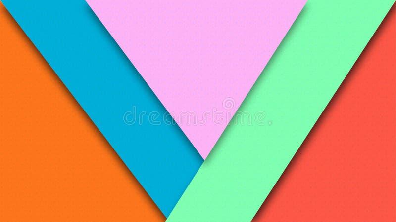 Abstracte Kleurendocumenten Textuur voor Geometrische Achtergrond vector illustratie
