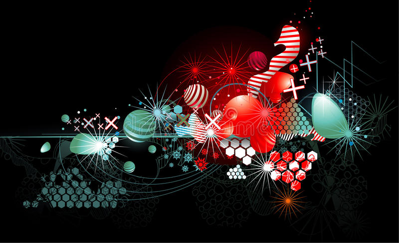 Abstracte kleurenfantasie stock illustratie
