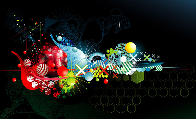 Abstracte kleurenfantasie royalty-vrije illustratie